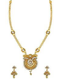 Zaveri Pearls Fine Detailed Traditional Long Necklace Set For Women - ZPFK6092