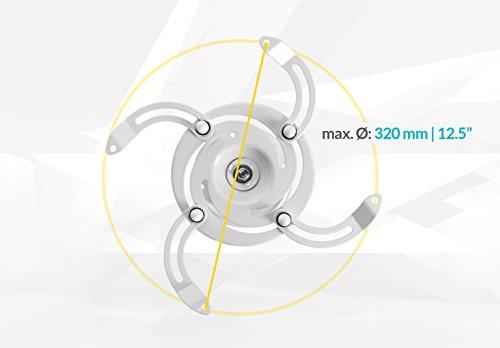 ivolum universal Beamer-Deckenhalterung PDH130 – weiß – Traglast bis 15 Kg - 3