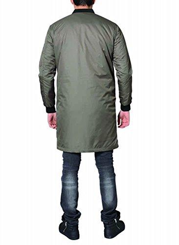 DJ White Long Bomber Jacke Parka Oversize Mantel Khaki - 4