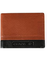 Freckles - Chaos Real Leather / Genuine Leather / Soft Leather Handmade Slim Front Pocket Men's Wallet - Black...