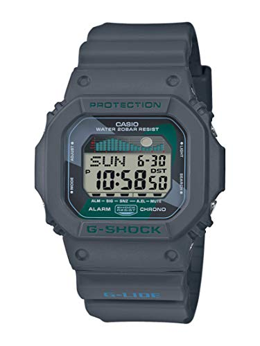 CASIO Herren Digital Quarz Uhr mit Resin Armband GLX-5600VH-1ER -