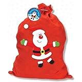 Saco navideño de fieltro rojo–50cm x 57cm