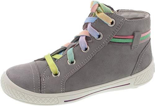 Superfit Mädchen Tensy Hohe Sneaker Grau (Hellgrau 25) 35 EU