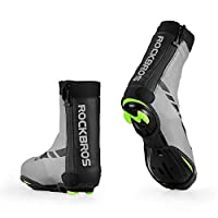 Bike Bicycle Shoes Cover Thermal Cycling Overshoes Windproof High Reflective Design Water-Resistant Cold Weather Warm Tight Fit Foot Covers For MTB Road Bicycle Mountain Road Bike Shoes
