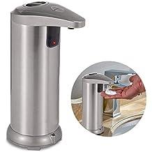 Kapmore Automático Jabón Dispensador Inoxidable Acero Líquido Dispensador Movimiento Sensor Mano Jabón Dispensador ...