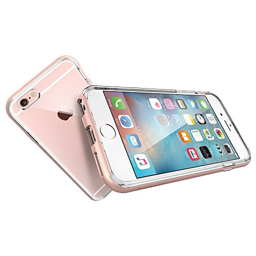 Coque iPhone 6/6S,vanki® Housse Transparente iphone Etui Silicone , [TPU+PC] pare-chocs Etui de Protection Silicone Case Soft Gel Cover Anti Rayure Anti Choc pour Iphone6/6S 4.7