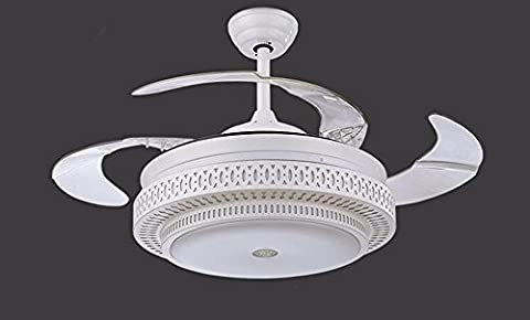 LoveScc The Living Room Bedroom Fan Chandeliers Furniture With Lamp Fan Invisible Modern Minimalist Style And Scalable36Inch Dim Wall