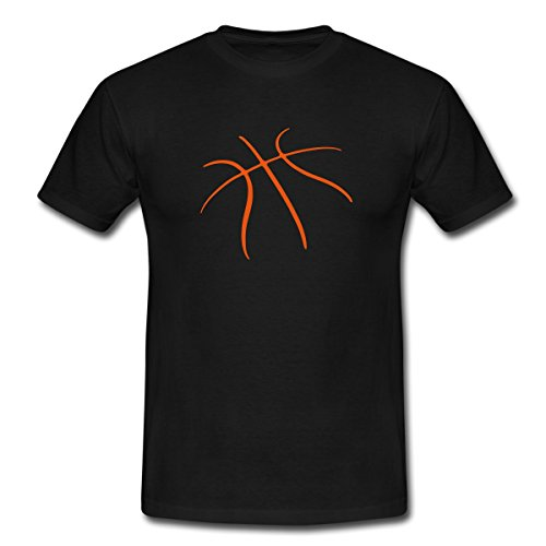 Spreadshirt Basketball Männer T-Shirt, L, Schwarz