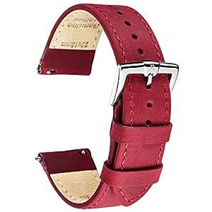 B&E Schnellverschluß Uhrenarmbänder Lite Vintage Leder Armband Ersatband für Herren Damen – Watch Bands Strap für traditionelle & intelligente Uhren – Breite 16mm 18mm 20mm 22mm 24mm Erhältlich