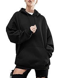 BienBien - Sudadera con capucha - a túnica - Manga larga - para mujer