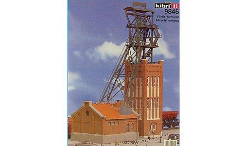 Gebäude Förderturm mit Maschinenhaus, Modellauto, Bausatz, Kibri 1:87