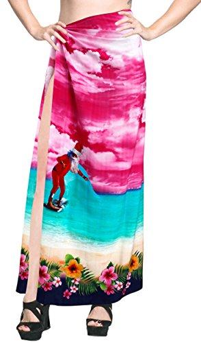 Zu Bademode coverup Frauen Sarong Badebekleidung Kleidrock Baden Wrap rosa (Baden-abdeckung Sarong)