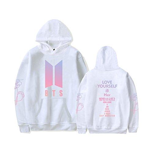 KPOP BTS Love Yourself Her Hoodie Suga Rap-Monster Jimin Jin J-Hope Jung Kook Unisex Mode Pullover für Frauen Männer ()