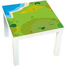 Möbelaufkleber Spielwiese -passend für IKEA LACK Beistelltisch - Kinderzimmer Spieltisch - Möbel nicht inklusive