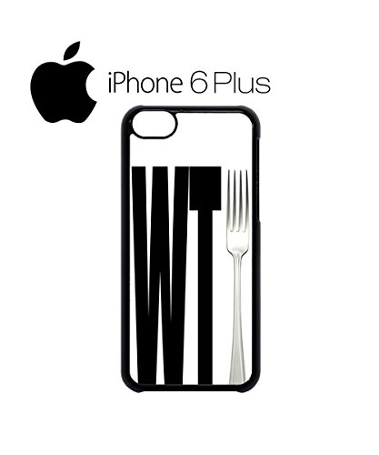 WTF What The Fork Funny Mobile Phone Case Back Cover Hülle Weiß Schwarz for iPhone 6 Plus White Schwarz