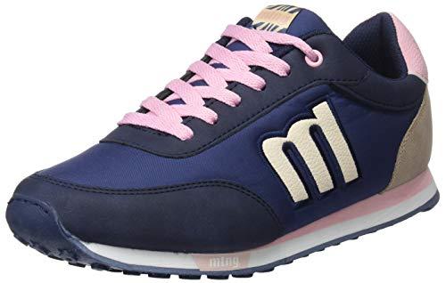 MTNG Attitude 56406, Zapatillas para Mujer, Azul Nylon Marino/Grotto Natural/Rosa / Vertigo Taupe C43655, 37 EU