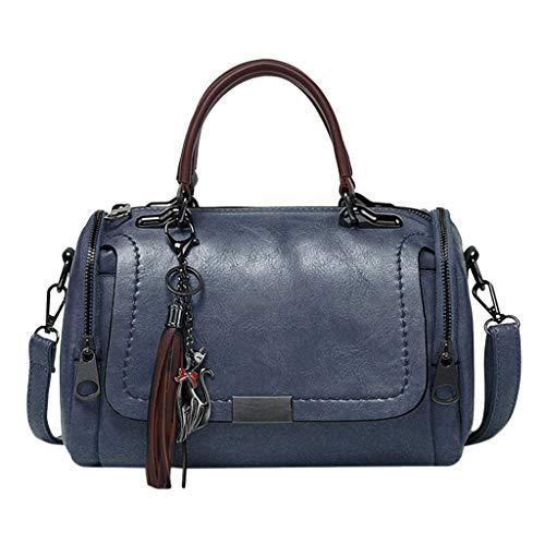 YSFWL Handtaschen Ledertasche Shopping Sportliche Messenger Zum Leichte Kosmetiktasche Strandtasche Online Businesstasche Marken Shop Kaufen Coole Koffer (Schwarz)