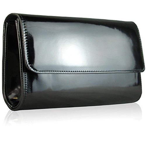 Xardi London Pochette da donna grande, nera metallizzata, da cerimonia o party Grey