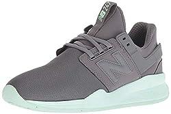 New Balance Damen 247v2 Sneaker, Grau (Castlerock/Sea Foam Red Rococo), 41.5 EU