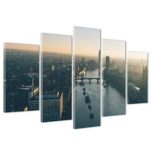 ConKrea Bild auf Leinwand Canvas-Gerahmt-fertig Zum Aufhängen-London UK-westeminster-Bigben-England 170x86cm - Camden Esszimmer-möbel