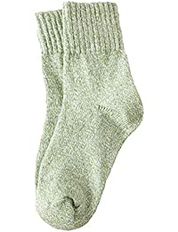 wiFndTu - 1 par de calcetines térmicos de invierno para mujer, color sólido, elásticos, color rojo sandía, Mujer, verde claro,…
