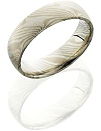 Palladium and Sterling Silver, Beadblasted Mokume Wedding Band (sz H to Z1)