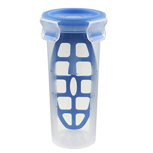 Tefal Master Seal Frischhaltedose Fresh Mischkrug, Lebensmittel, transparent/blau, 0,5Liter