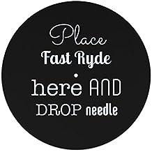 Place rapide Ryde ici et de chute l'aiguille slipmat 12 inches