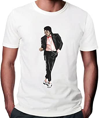 Michael Jackson King Of Pop Art T-Shirt - Medium Herren