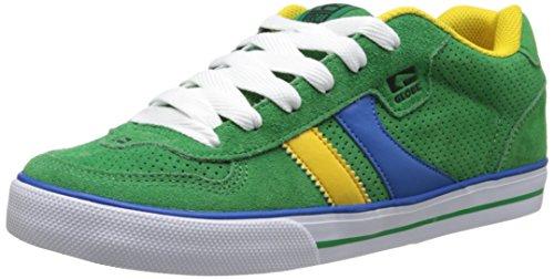 GLOBE Skateboard Shoes ENCORE GREEN/BLUE/GOLD Size 5 (Schuhe Skateboard Globe)