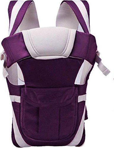 Chinmay Kids® Baby Carrier Bag With Hip Seat And Head Support For 4-12 Months WB (Purple)