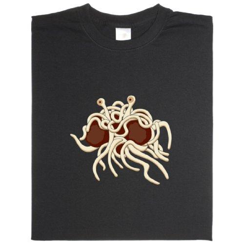 Fliegendes Spaghetti Monster - Geek Shirt für Computerfreaks aus fair gehandelter Bio-Baumwolle Schwarz
