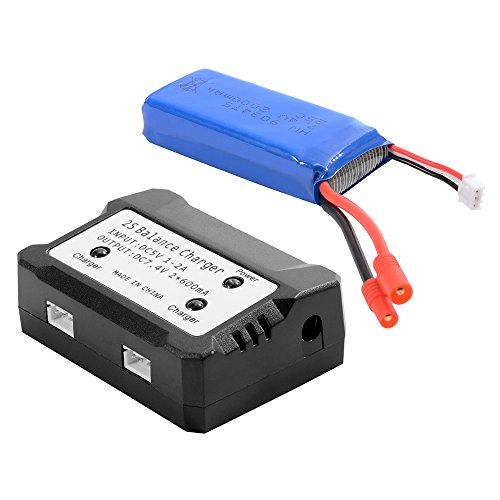 Preisvergleich Produktbild XCSOURCE® 7,4V 2000mAh 25C Akku Lipo Batterie + 2 in 1 Batterie Ladegerät Gleichgewicht Für Syma X8C X8W X8G Quadcopter BC586