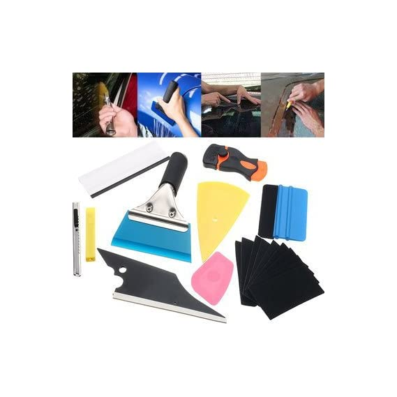 Generic 10 In 1 Window Tint Tools Car Wrapping Application Kit Sticker Vinyl Sheet Squeegee