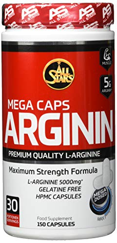 All Stars Arginin Mega Caps - Kapseln á 1395 mg, 150 Kapseln, 209 g