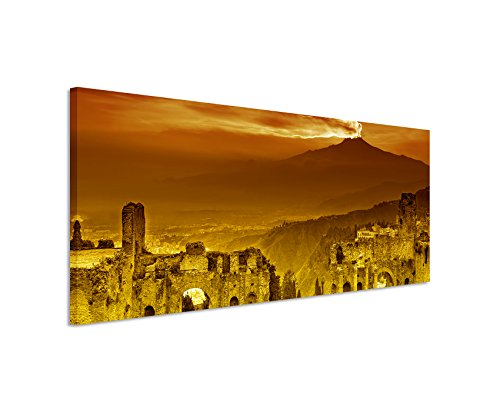 150-x-50-cm-canvas-wall-art-panorama-image-ruins-flavian-amphitheatre-atna-sunset