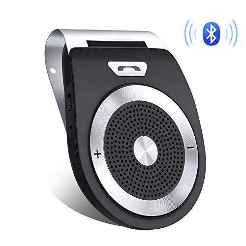 Aigoss Bluetooth 4.1 Auto Power ON Kfz Freisprecheinrichtung, Visier Car Kit mit eingebautem Bewegungssensor, GPS/Musik/Handsfree/ 2 Telefone gleichzeitig -