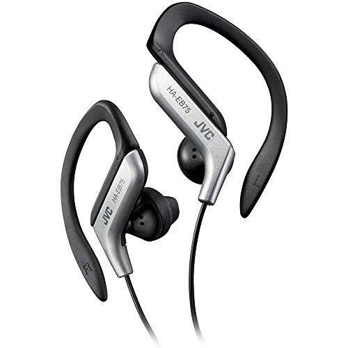 JVC HAEB75S Sports Clip Headphone (Silver) Active Noise Reduction Plug