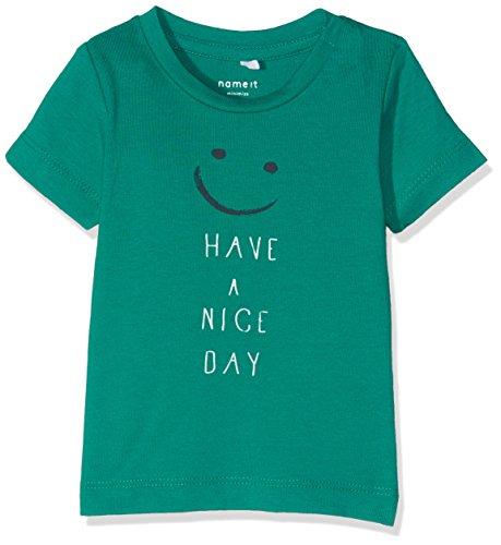 NAME IT Baby - Jungen T-Shirt NITGERLEF SS TOP BOX MZNB 13140567, Gr. 86, Grün (Fanfare)