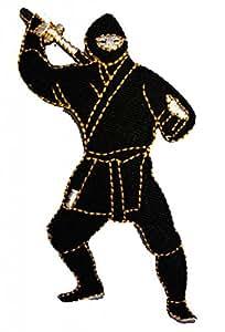 Ninja Comic Patch ''5,2 x 10,3 cm'' - Écusson brodé Ecussons Imprimés Ecussons Thermocollants Broderie Sur Vetement Ecusson