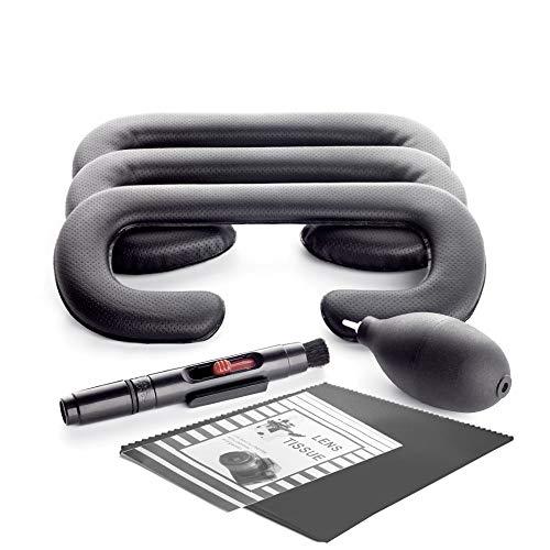 3 Stück 18mm/12mm/6mm Gesicht Schaum Ersatz Augen Schaumstoff für HTC Vive Polster von KIWI design