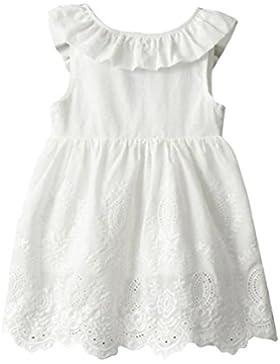 Vestido de niña, RETUROM Princesa de la muchacha encantadora Vestidos blancos del partido