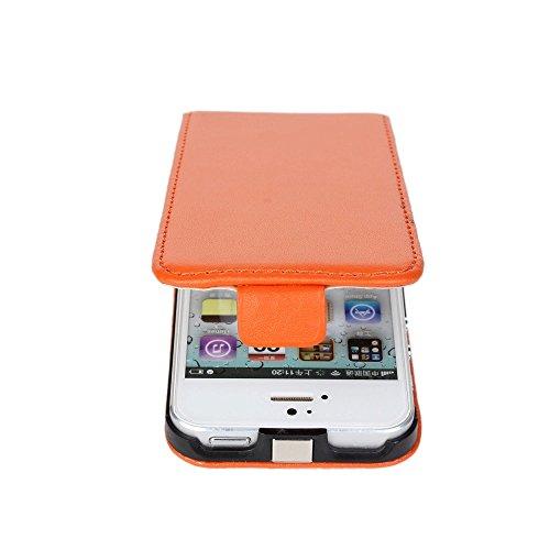 Meimeiwu Genuine Flip Case Custodia Cover Protezione + Free gift stylus Per iPhone 6 6S - Verde Arancione