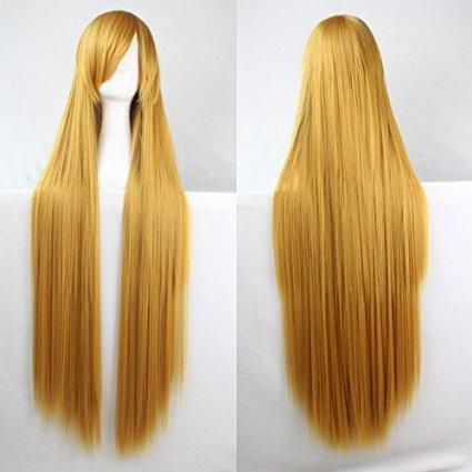 COS cheveux perruque Anime 100 cm Cheveux Fer à Lisser