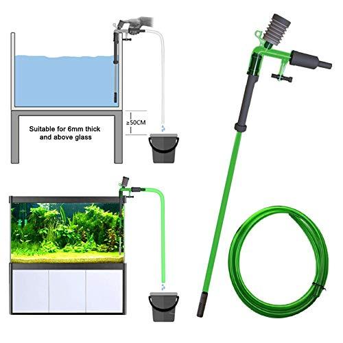 Aquarium-Kies-Reiniger, Teleskop-Aquarium-Sandreiniger-Kit Wasserdurchflussregler Clamp Water Change Algenschaber einstellbar für Aquarium Siphon Kies