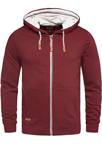 Indicode Herren Natal Herren Kapuzenpullover Hoodie Sweatshirt mit Kapuze hochwertiger Baumwollmischung Meliert Bordeaux L Armee-hoodies