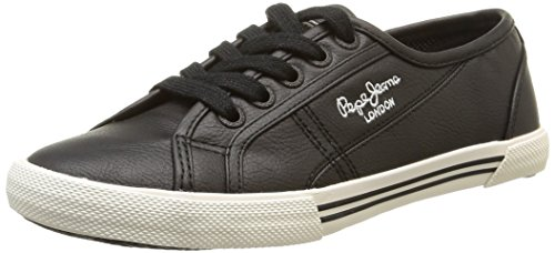 Pepe Jeans Aberlady Basic W15 Damen Sneaker Schwarz - Noir (999Black)