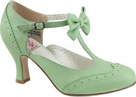 Pin Up Couture - Flapper-11, Scarpe con cinturino Donna Mint Faux Leather