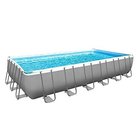 Intex Pool ULTRA FRAME RECTANGULAR DOUBLE Sand with Pump, Ladder, Towel base-copertura I.1 732x366