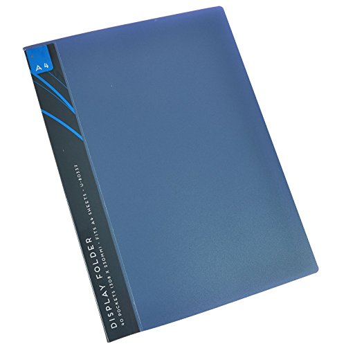 A4Display Präsentation Ordner, Buch Datei Flexicover 40Taschen Portfolio Project, plastik, blau, 308mm x 230mm (Präsentationsmappen Blaue)